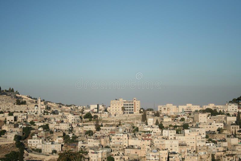 Vista de Jerusalén foto de archivo libre de regalías