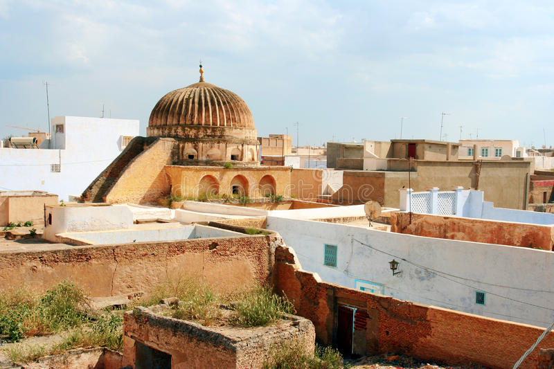 Vista de Kairouan, Tunísia fotos de stock royalty free