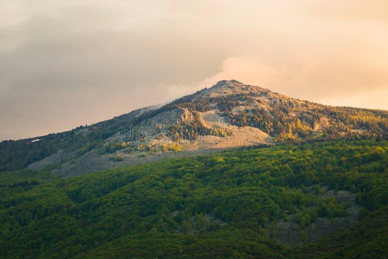 Vista de Kamen del pico no parque natural de Vitosha, Sófia fotos de stock royalty free