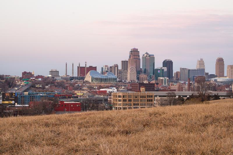Vista de Kansas City imagem de stock royalty free