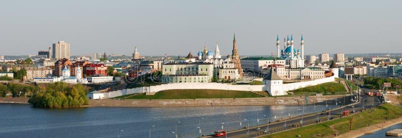 Vista de Kazan Kremlin imagenes de archivo