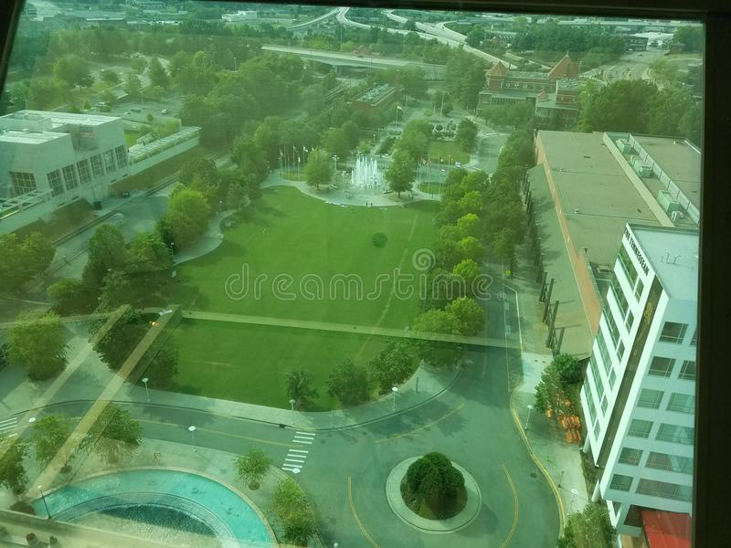 Vista de Knoxville, Tennessee da torre de observação imagem de stock