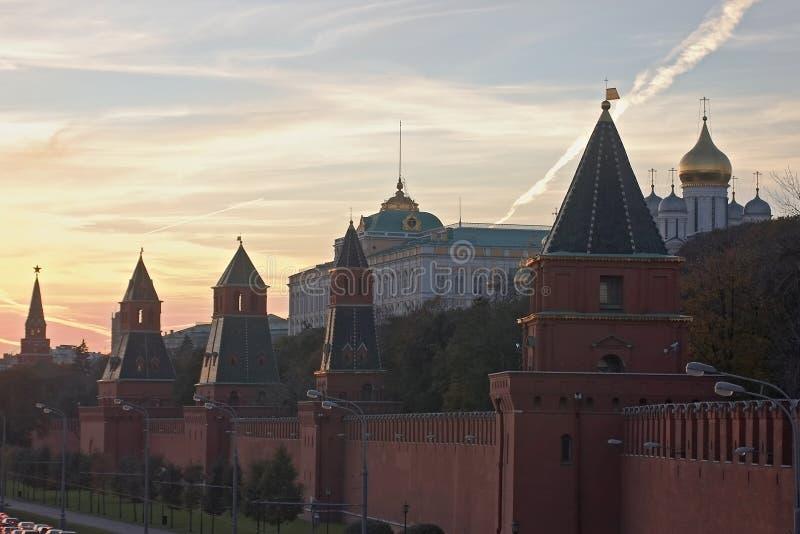 Vista de Kremlin en Moscú, Rusia imagen de archivo libre de regalías