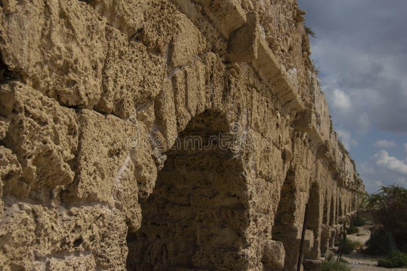 Vista de l'aqueduc romain photos libres de droits