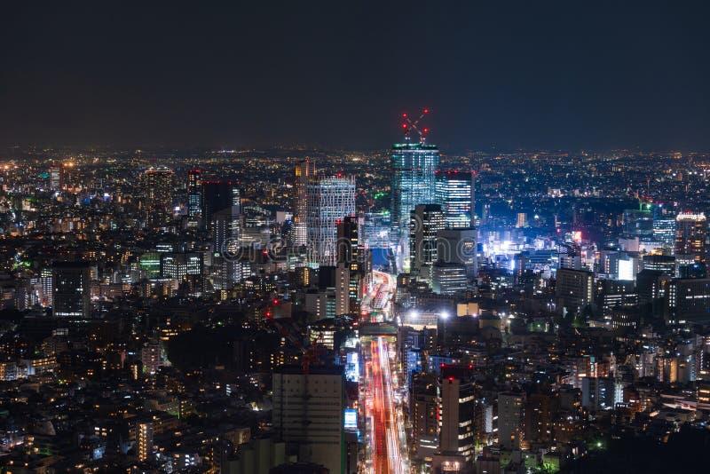 Vista de la autopista metropolitana no L?nea y ciudad, Tokio, Jap?n de 3 Shibuya fotos de archivo libres de regalías