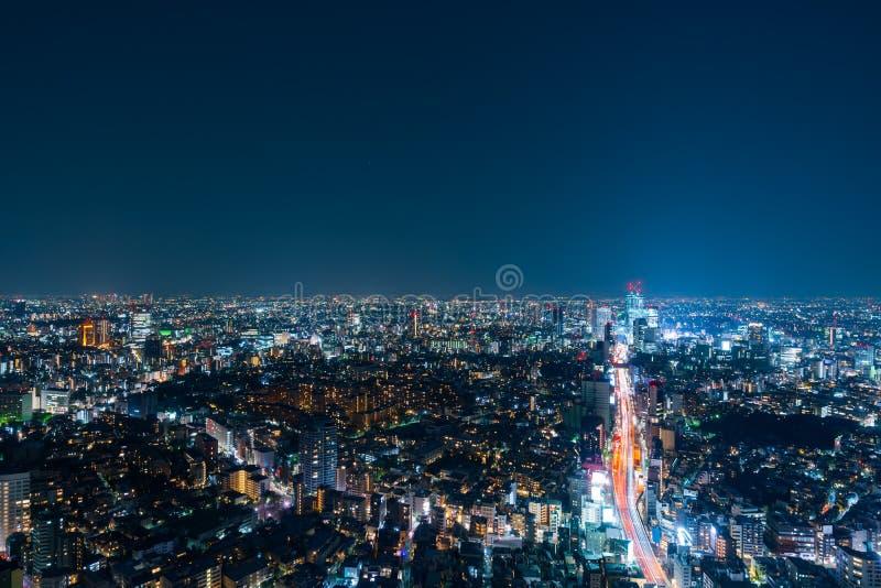 Vista de la autopista metropolitana no L?nea y ciudad, Tokio, Jap?n de 3 Shibuya imagen de archivo