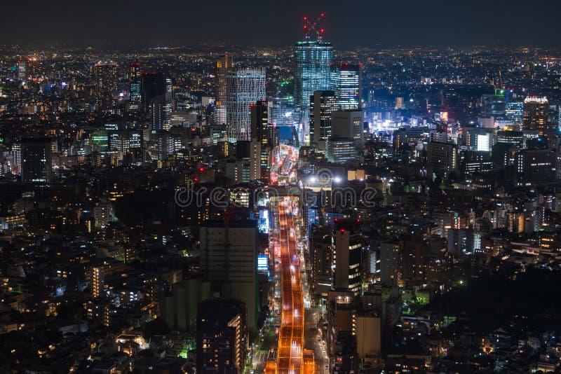 Vista de la autopista metropolitana no L?nea y ciudad, Tokio, Jap?n de 3 Shibuya foto de archivo libre de regalías
