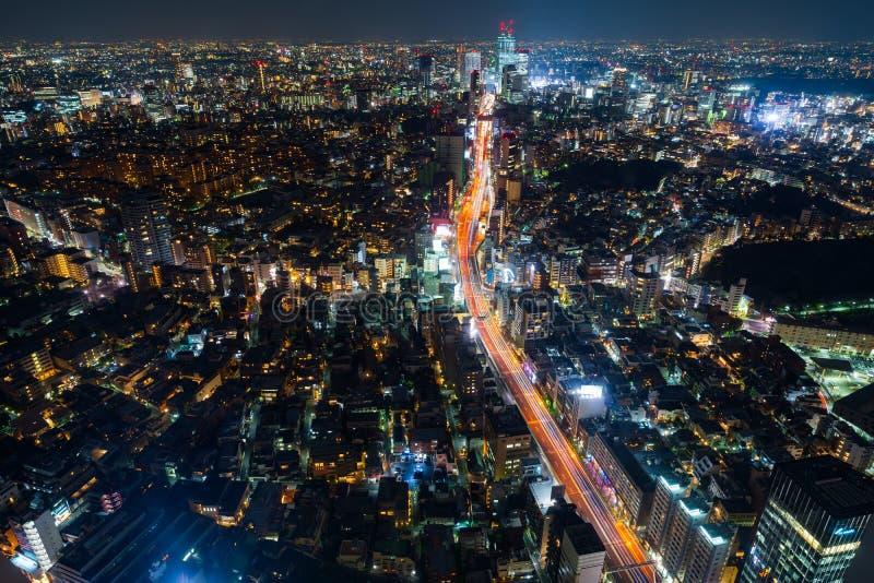 Vista de la autopista metropolitana no L?nea y ciudad, Tokio, Jap?n de 3 Shibuya fotos de archivo