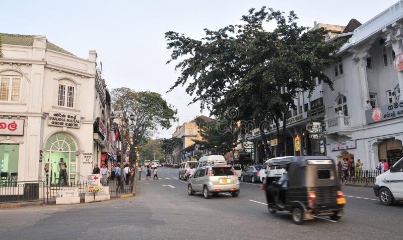 Vista de la calle de Kandy imagenes de archivo