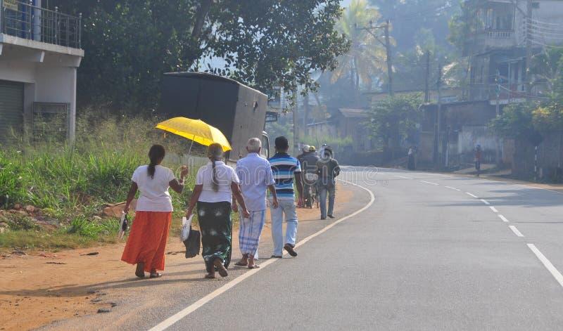 Vista de la calle de Kandy foto de archivo libre de regalías