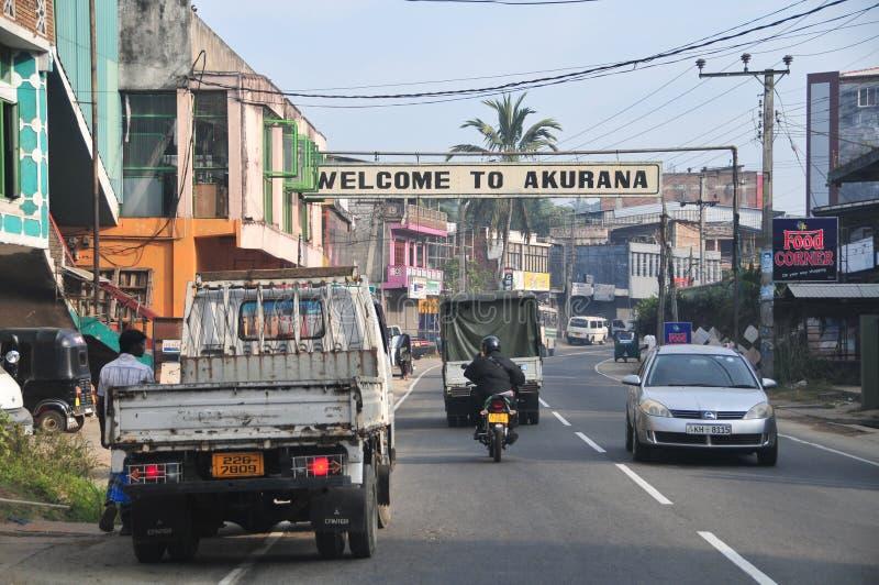 Vista de la calle de Kandy fotos de archivo libres de regalías