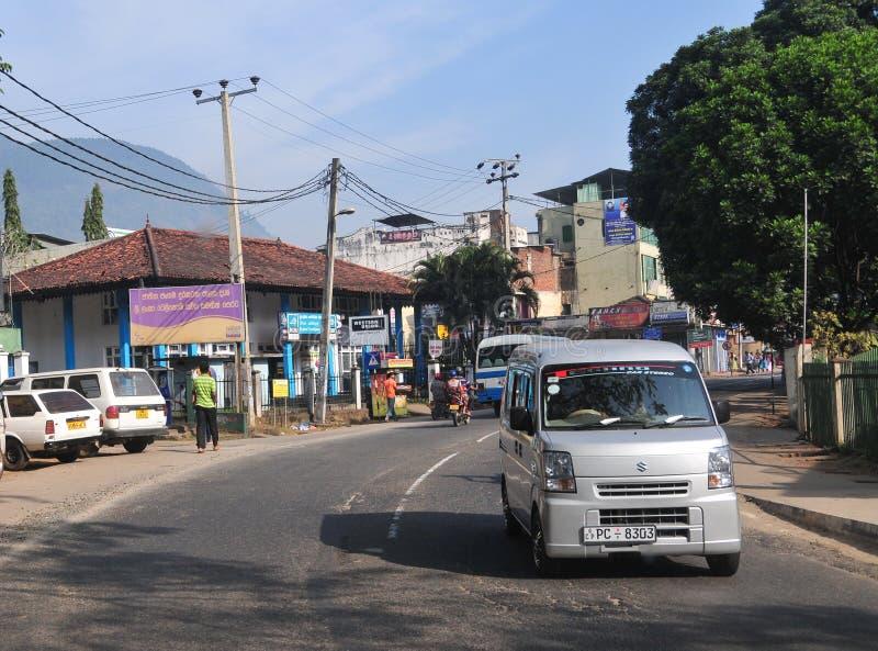 Vista de la calle de Kandy imagen de archivo
