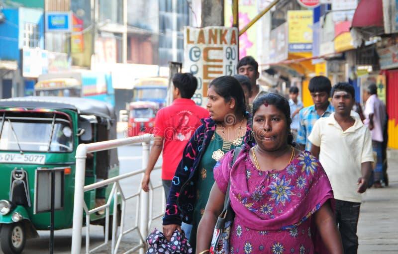 Vista de la calle de Kandy fotografía de archivo libre de regalías
