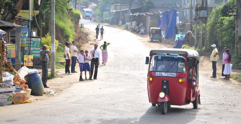 Vista de la calle de Kandy foto de archivo