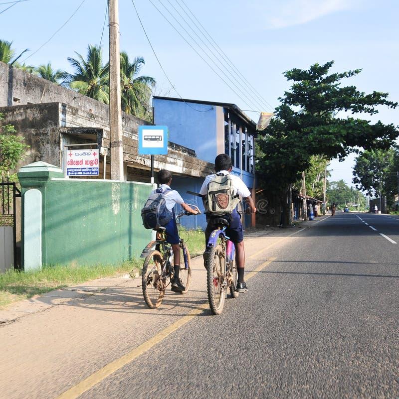 Vista de la calle de Kandy fotografía de archivo