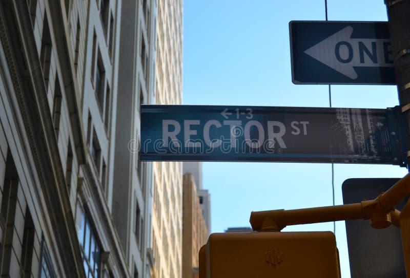 Vista de la calle del rector imagen de archivo libre de regalías