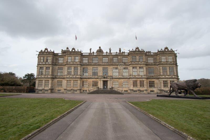 Vista de la casa de Longleat imagenes de archivo