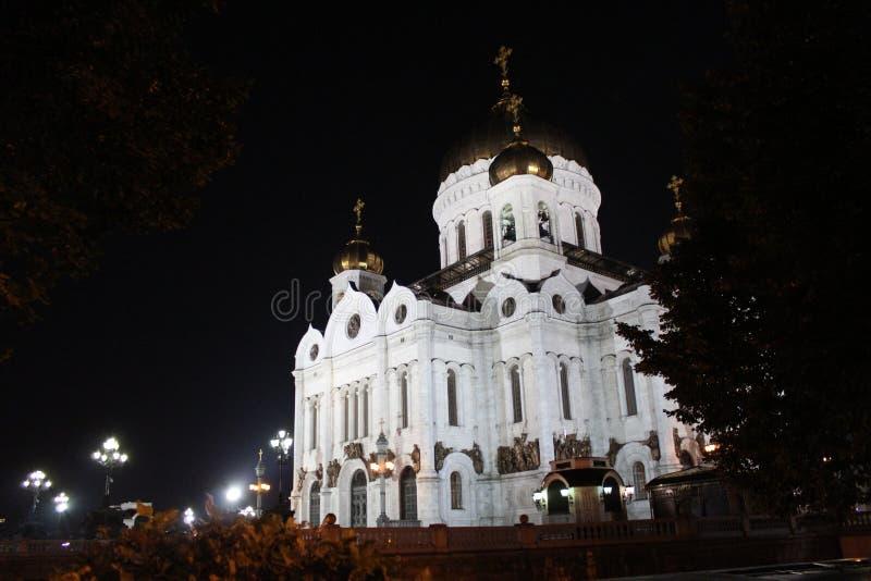 Vista de la catedral de Cristo el salvador con la luz en Moscú fotos de archivo
