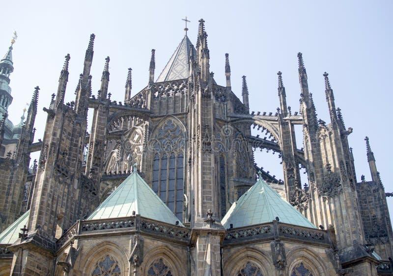 Vista de la catedral de StVitus en Praga, fotografía de archivo
