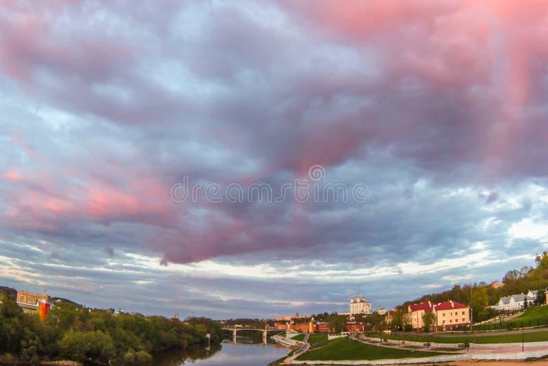 Vista de la catedral en Smolensk, Rusia fotos de archivo