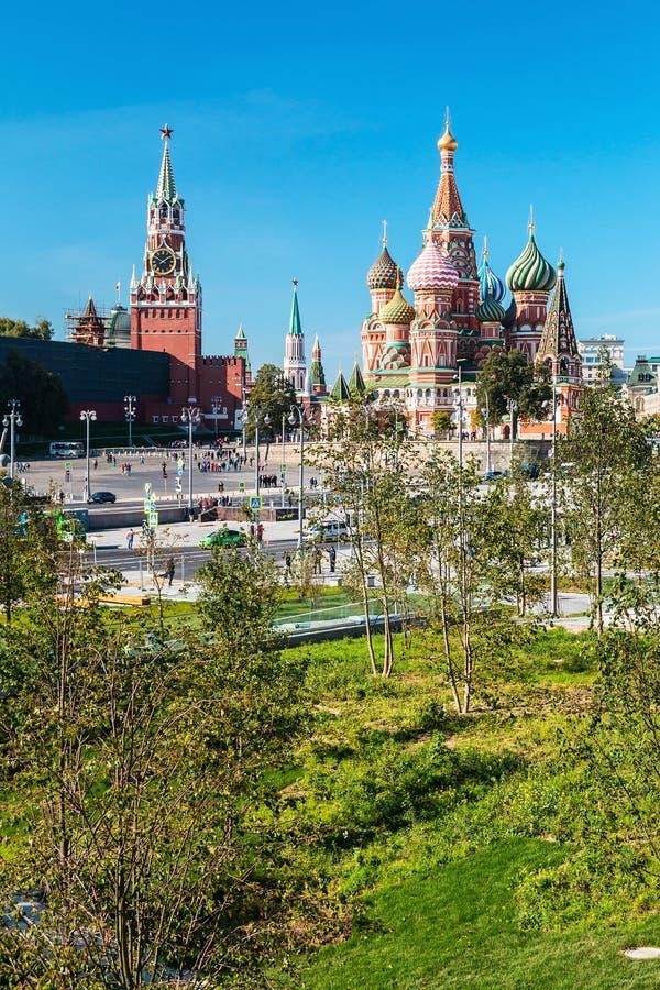 Vista de la catedral de Pokrovsky fotografía de archivo