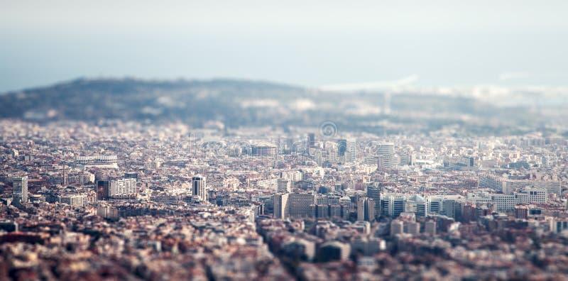 Vista de la ciudad foto de archivo