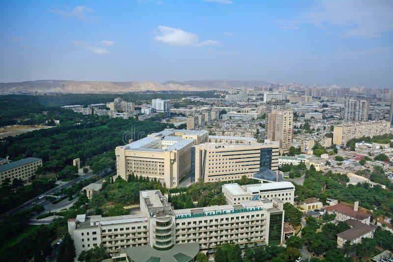 Vista de la ciudad, Baku, Azerbaijan fotos de archivo