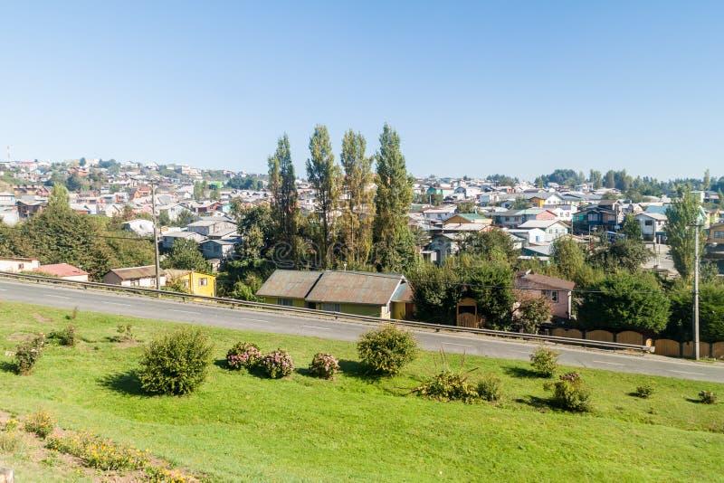 Vista de la ciudad de Castro, ji foto de archivo libre de regalías