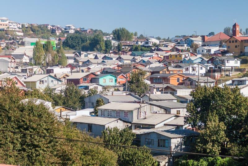 Vista de la ciudad de Castro, ji imagen de archivo libre de regalías