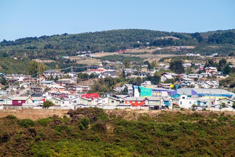 Vista de la ciudad de Castro, ji fotografía de archivo libre de regalías