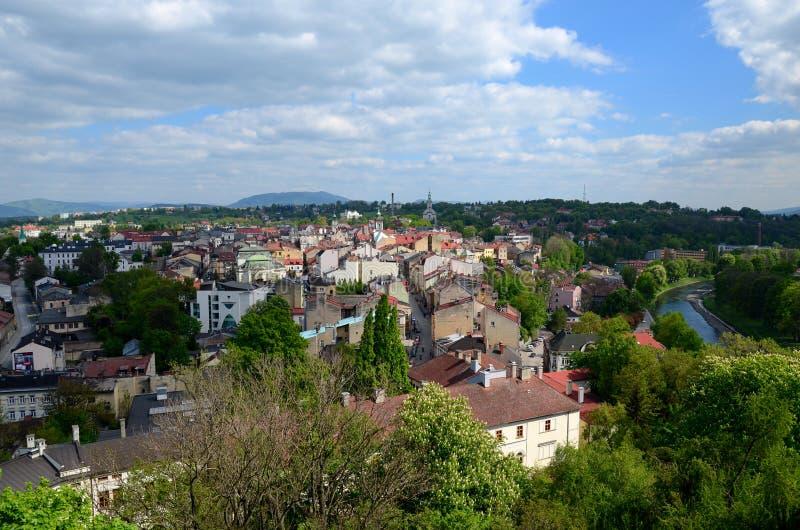 Vista de la ciudad - Cieszyn fotografía de archivo libre de regalías