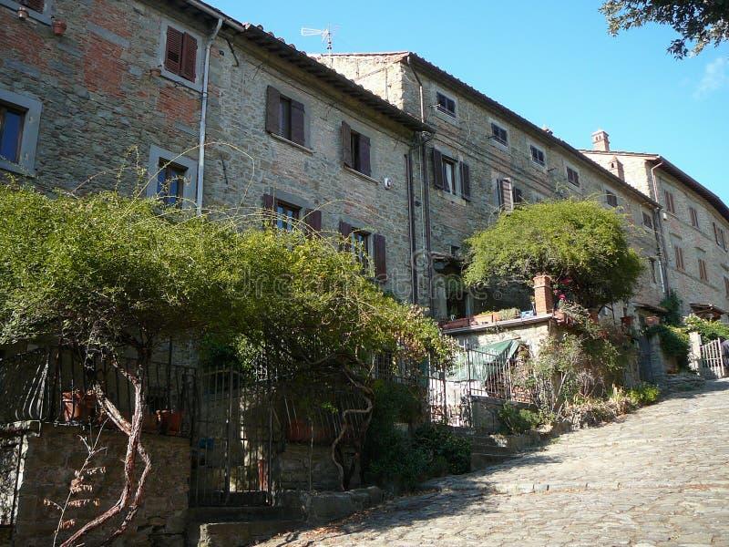 Vista de la ciudad de Cortona fotografía de archivo libre de regalías