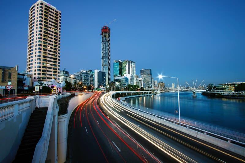 Vista de la ciudad de Brisbane de William Jolly Bridge imágenes de archivo libres de regalías