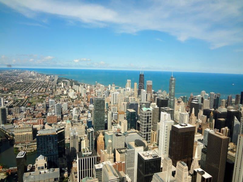 Vista de la ciudad de Chicago del centro de Hancock fotos de archivo