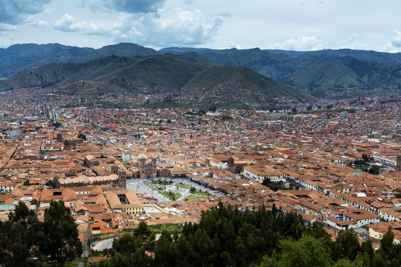 Vista de la ciudad de Cuzco, en Perú imagen de archivo libre de regalías