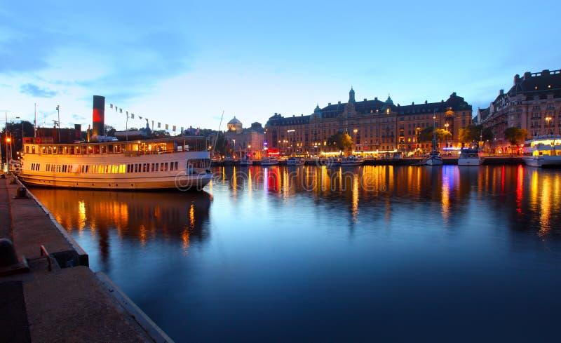 Vista de la ciudad de Estocolmo foto de archivo libre de regalías