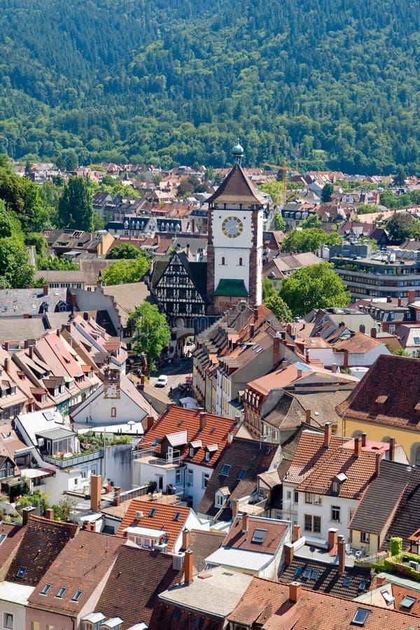 Vista de la ciudad de Freiburg en Alemania imagenes de archivo