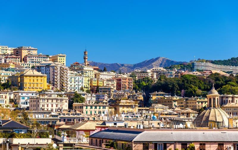 Vista de la ciudad de Génova - Italia foto de archivo libre de regalías