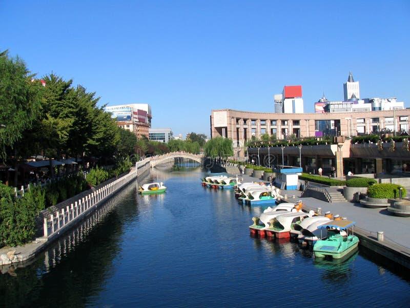 Vista de la ciudad de Jinan imagen de archivo libre de regalías