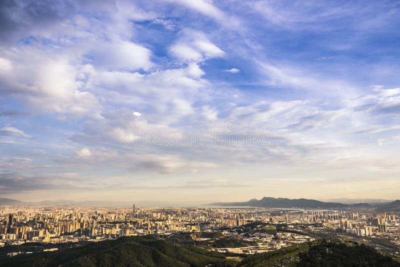 Vista de la ciudad de Kunming imagen de archivo libre de regalías