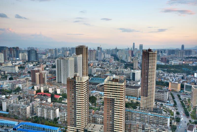 Vista de la ciudad de Kunming fotografía de archivo libre de regalías