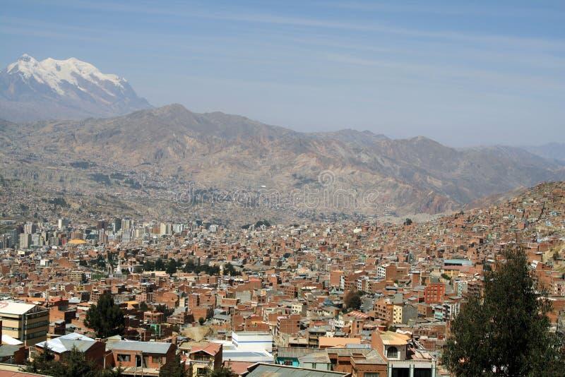 Vista de la ciudad de La Paz imágenes de archivo libres de regalías