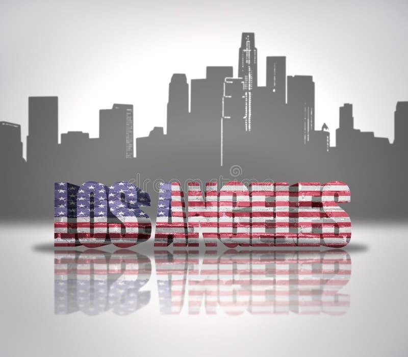 Vista de la ciudad de Los Ángeles stock de ilustración