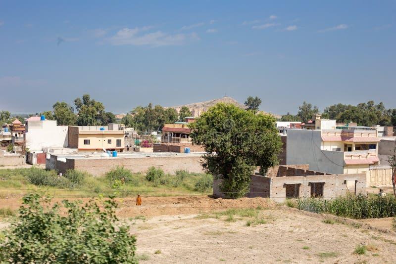 Vista de la ciudad de Nowshera imagen de archivo libre de regalías