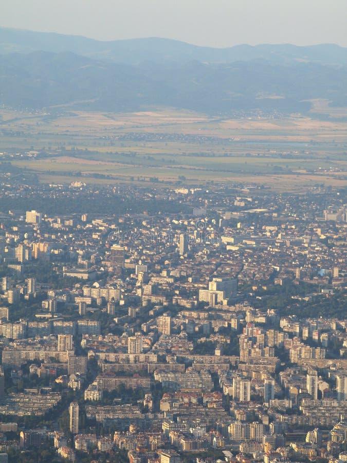 Vista de la ciudad de Sofía fotografía de archivo