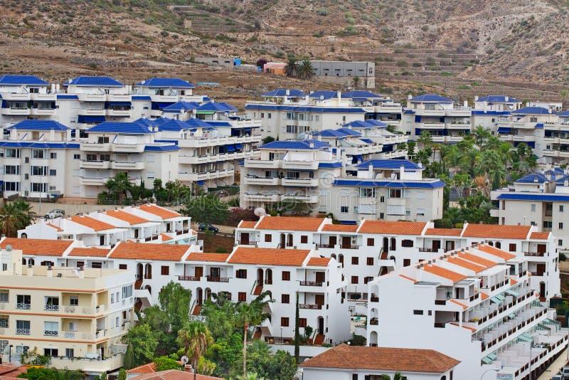 Vista de la ciudad del Los Cristianos Tenerife Islas Canarias españa fotos de archivo libres de regalías