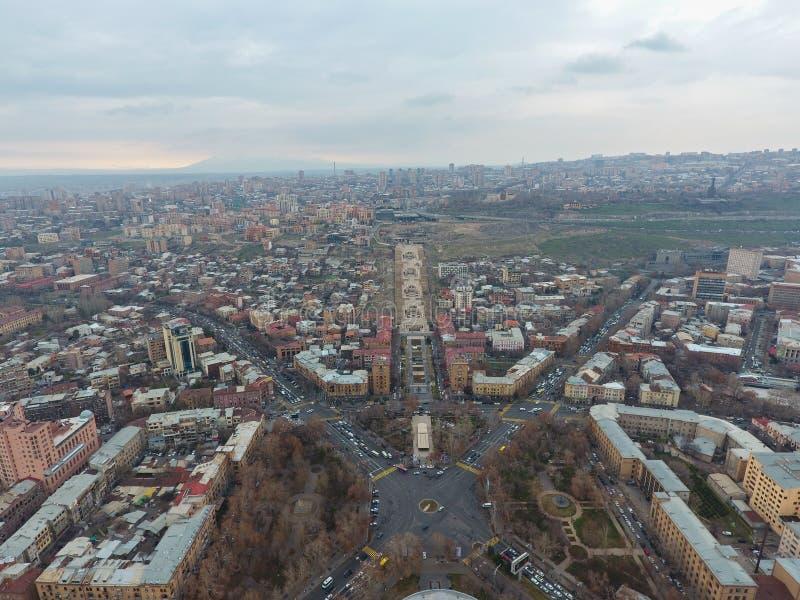 Vista de la ciudad de Ereván armenia foto de archivo libre de regalías