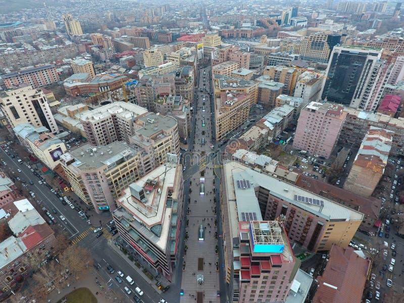 Vista de la ciudad de Ereván armenia imagenes de archivo