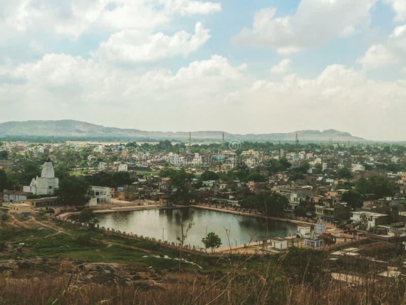 Vista de la ciudad GAYA de un punto álgido fotos de archivo