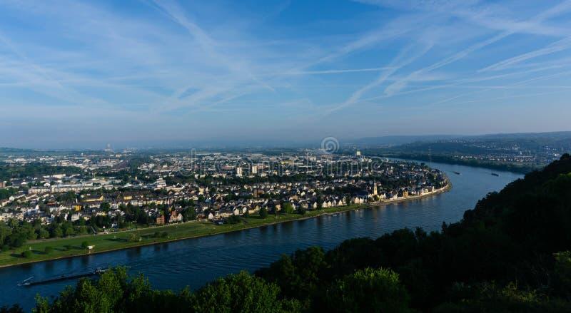 Vista de la ciudad de Koblenz en Alemania fotografía de archivo